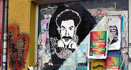 Borat Stencil Berlin - Danziger Strasse