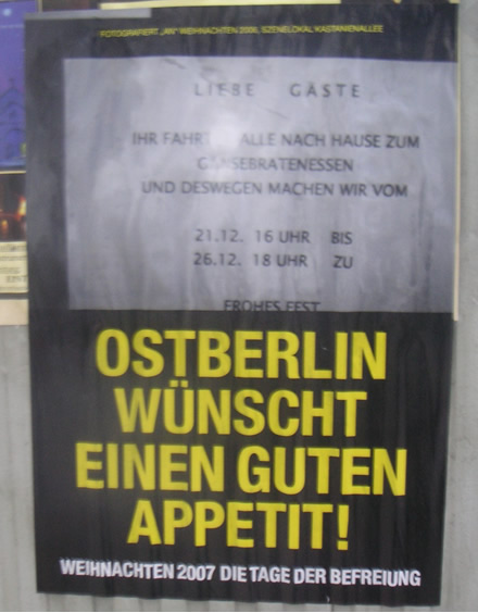 Ostberlin wünscht einen guten Appetit!