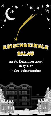 Krischdkindle Ralau in Berlin am 17.12.2005