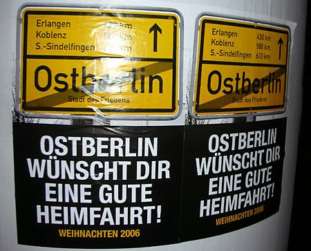 Ostberlin wünscht dir eine gute Heimfahrt
