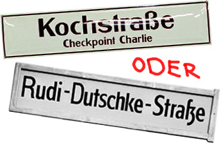 Rudi-Dutschke-Strasse oder Kochstrasse?