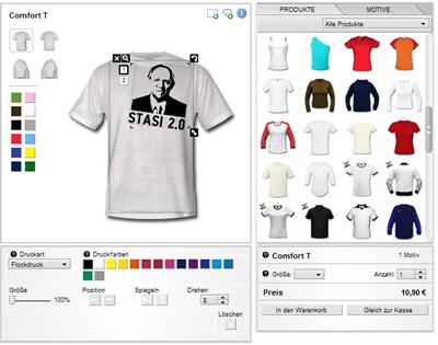 Deine Stasi 2.0 Shirt frisch aus dem Confomaten!